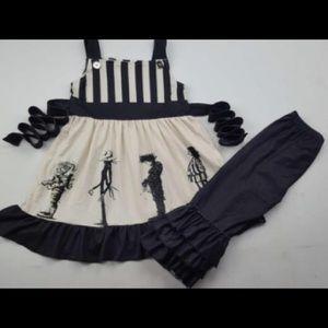 Halloween Tim Button Beetlejuice Dress outfit set
